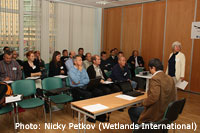 The Bewick's Swan experts at work in St. Petersburg, Russia / Photo: Nicky Petkov (Wetlands International)