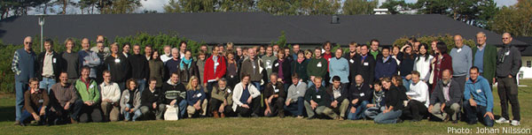 Group photo of participants at the 12th IUCN/Wetlands International Goose Specialist Group Meeting. / Photo: Johan Nilsson