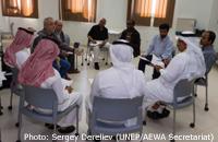 Participants of the first meeting of the AEWA Northern Bald Ibis International Working Group © Photo: Sergey Dereliev (UNEP/AEWA Secretariat)