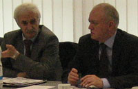 Dr. A. Amirkhanov (Deputy Director at the Russian Ministry of Natural Resources and Environmental Protection) and Mr. V. Ivlev (Deputy Director of the Department for International Cooperation at the Russian Ministry of Natural Resources and Environmental Protection)