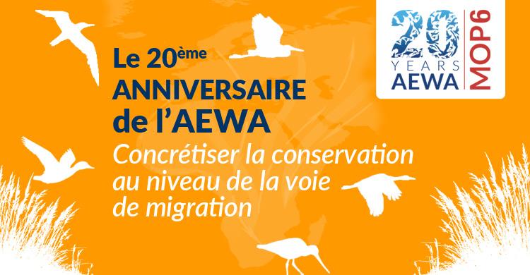 Le traité de l'ONU sur les oiseaux d'eau migrateurs célèbre son 20e anniversaire