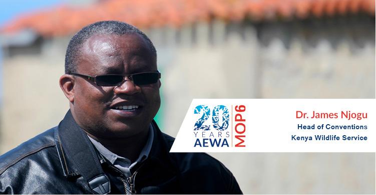 People behind AEWA -  Dr. James Njogu