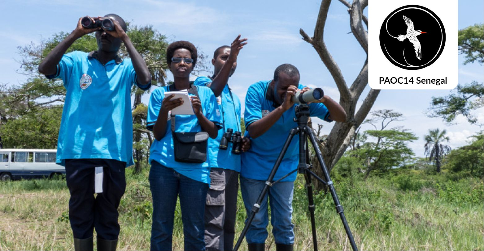 Birdwatchers in Africa © Szabolcs Nagy