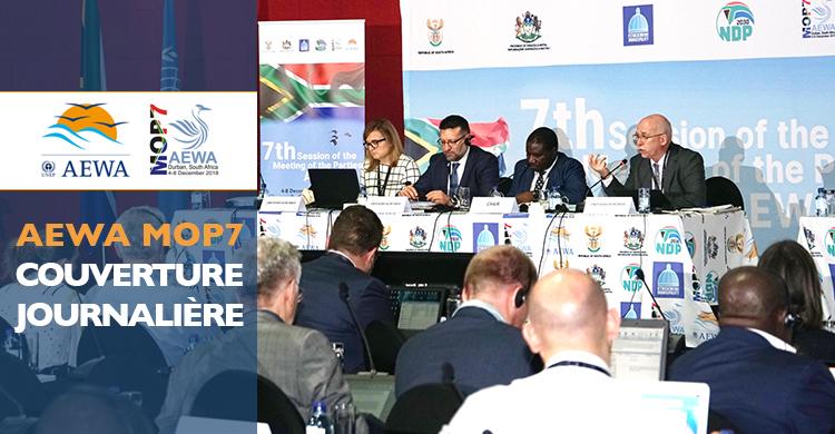Jacques Trouvilliez, Secrétaire exécutif de l'AEWA s'adressant à la plénière lors de la première journée de la MOP7 à Durban, Afrique du Sud - © Aydin Bahramlouian