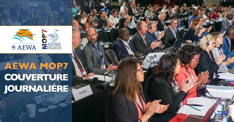 Les délégués lors de session plénière pendant la dernière journée de la MOP7 à Durban, en Afrique du sud © Aydin Bahramlouian