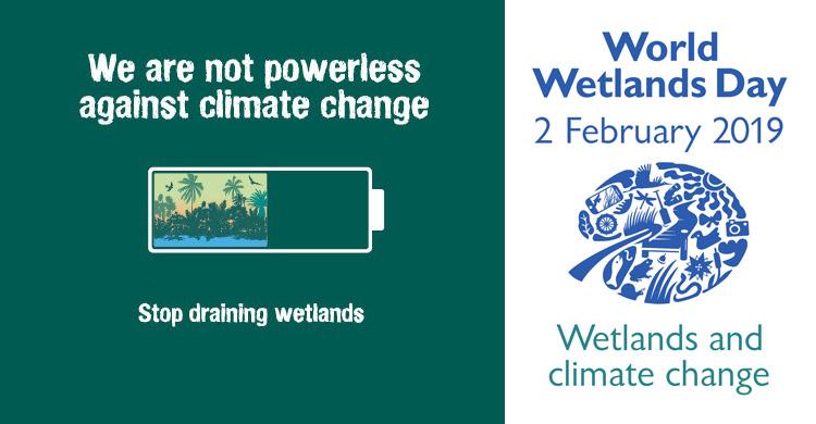 Αποτέλεσμα εικόνας για wetlands day 2019 climate change