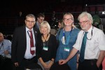 Szabolcs Nagy (Wetlands Int'l / Member of AEWA Technical Committee), Ruth Cromie (WWT / Member of AEWA Technical Committee), Melisa Lewis (Member of AEWA Technical Committee), David Strout (Honorary Patron of AEWA) © Aydin Bahramlouian