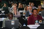 Delegates in the plenary during the Scientific and Technical Working Group session, presided over by David Stroud (UK, Chair of the AEWA Technical Committee) - AEWA MOP7 in Durban, South Africa- © Aydin Bahramlouian