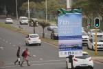 AEWA MOP7 banner in the streets of Durban, South Africa - © Aydin Bahramlouian