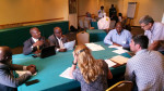 The Working Group identifying and discussing key issues of the plan