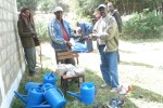 Handing over of nursery tools and tree seeds to Berga SSG © EWNHS