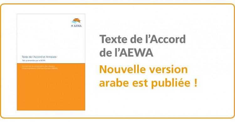 La nouvelle version arabe officielle de l'Accord est disponible !
