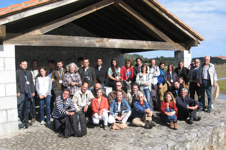 Participants VII Spoonbill Workshop in Santoña, Victoria and Joyel marshes Natural Park, Cantabria, Spain, October 2012 © Manuel Estébanez